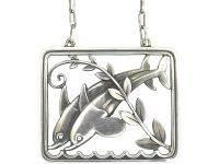 Silver Dolphins Pendant by Arno Malinowski for Georg Jensen