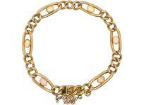 Edwardian 15ct Gold Bracelet set with Opals