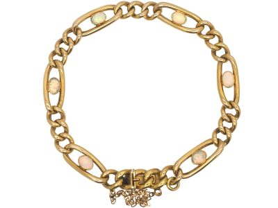 Edwardian 15ct Gold Bracelet set with Opals