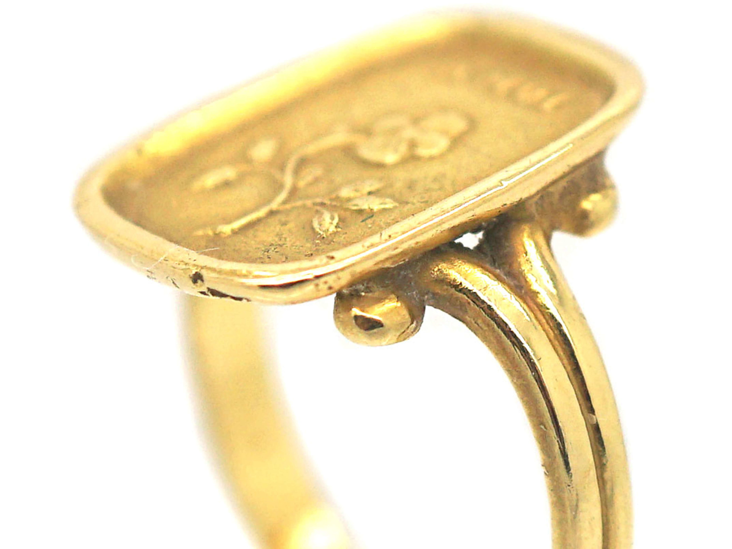 Victorian 18ct Gold Ring with Pense a Moi Motif