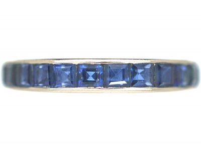 Art Deco 18ct White Gold, Sapphire Eternity Ring