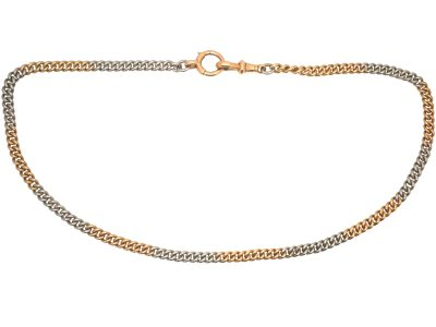 Edwardian 15ct Gold & Platinum Albert Chain