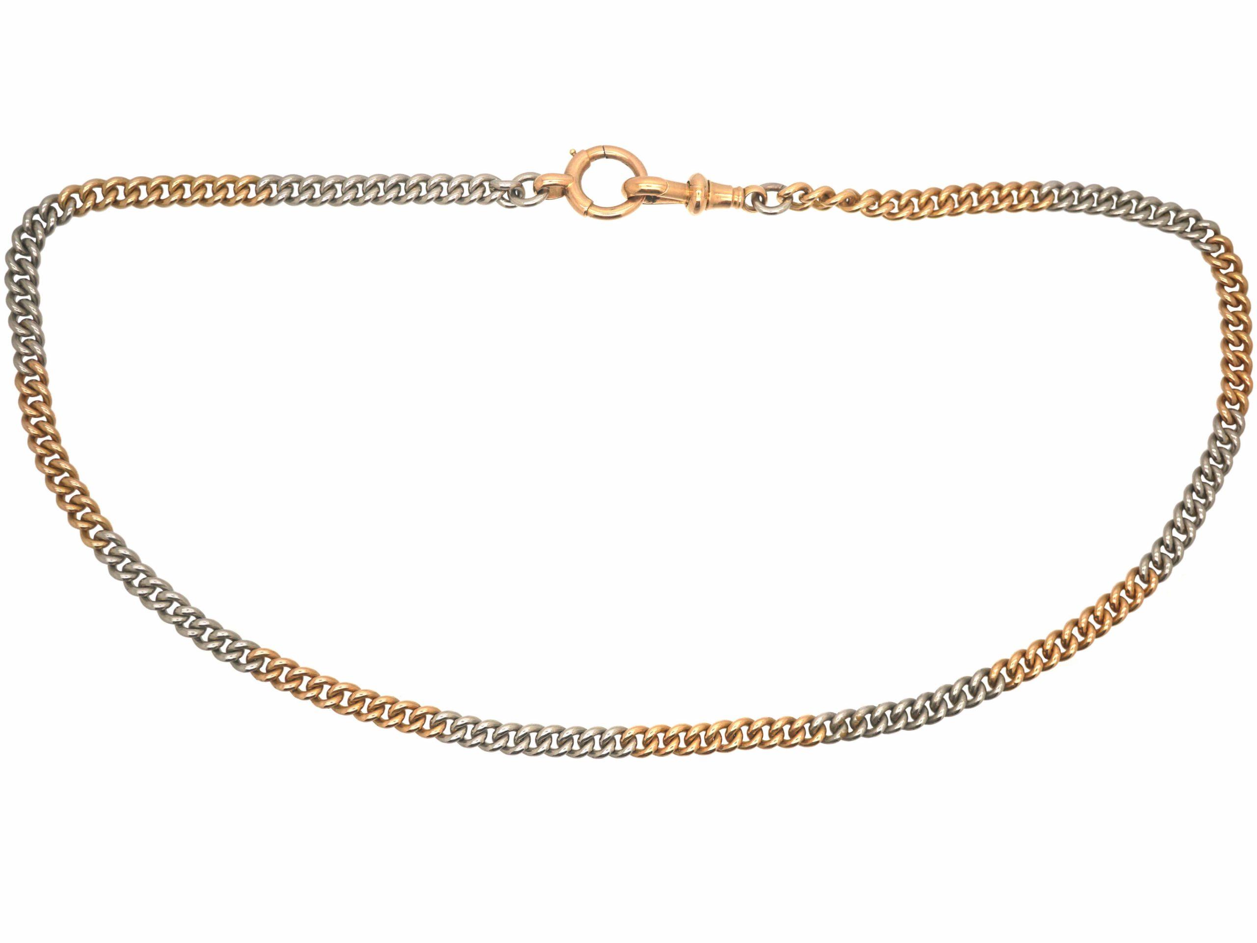 Edwardian 15ct Gold & Platinum Albert Chain