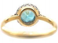 18ct Gold & Platinum, Diamond & Zircon Cluster Ring