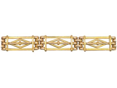 Edwardian 15ct Gold Gate Bracelet