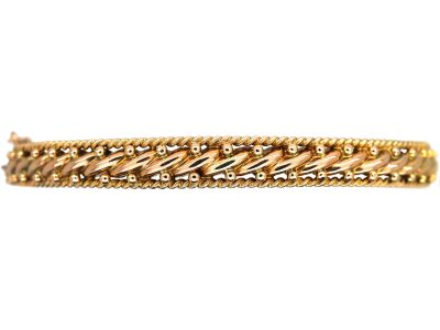Victorian 9ct Gold Woven Design Bangle
