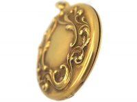 Art Nouveau 14ct Gold Round Locket
