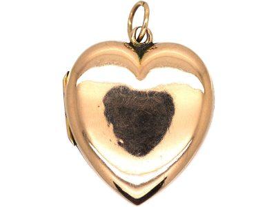Edwardian 9ct Gold Heart Shaped Locket