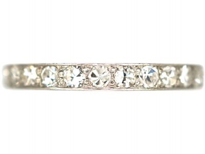 Art Deco 18ct White Gold Diamond Eternity Ring