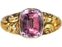Georgian 18ct Gold & Foiled Amethyst Ring