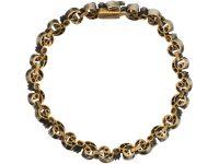 19th Century  French 18ct Gold & Silver, Diamond Bracelet