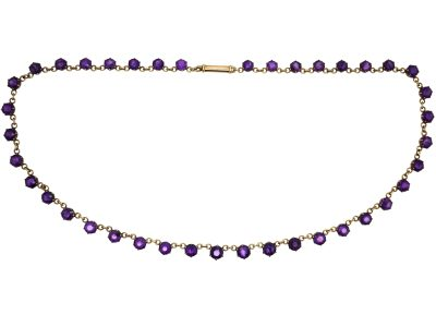 Edwardian 9ct Gold & Amethyst Necklace