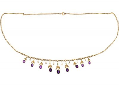 Edwardian 15ct Gold Suffragette Necklace