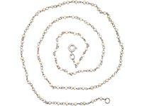 Edwardian Platinum & Natural Pearls Chain
