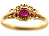 18ct Gold Three Stone Ruby & Diamond Ring by Mappin & Webb