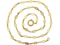 French Belle Epoque 18ct Gold Ornate Chain