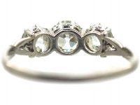 Edwardian Platinum, Three Stone Diamond Ring