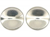 Silver Concave Disc Earrings by Georg Jensen