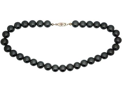 Art Deco Haematite Bead Necklace
