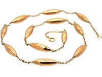 Edwardian 9ct Gold Chain with Twelve Lozenges