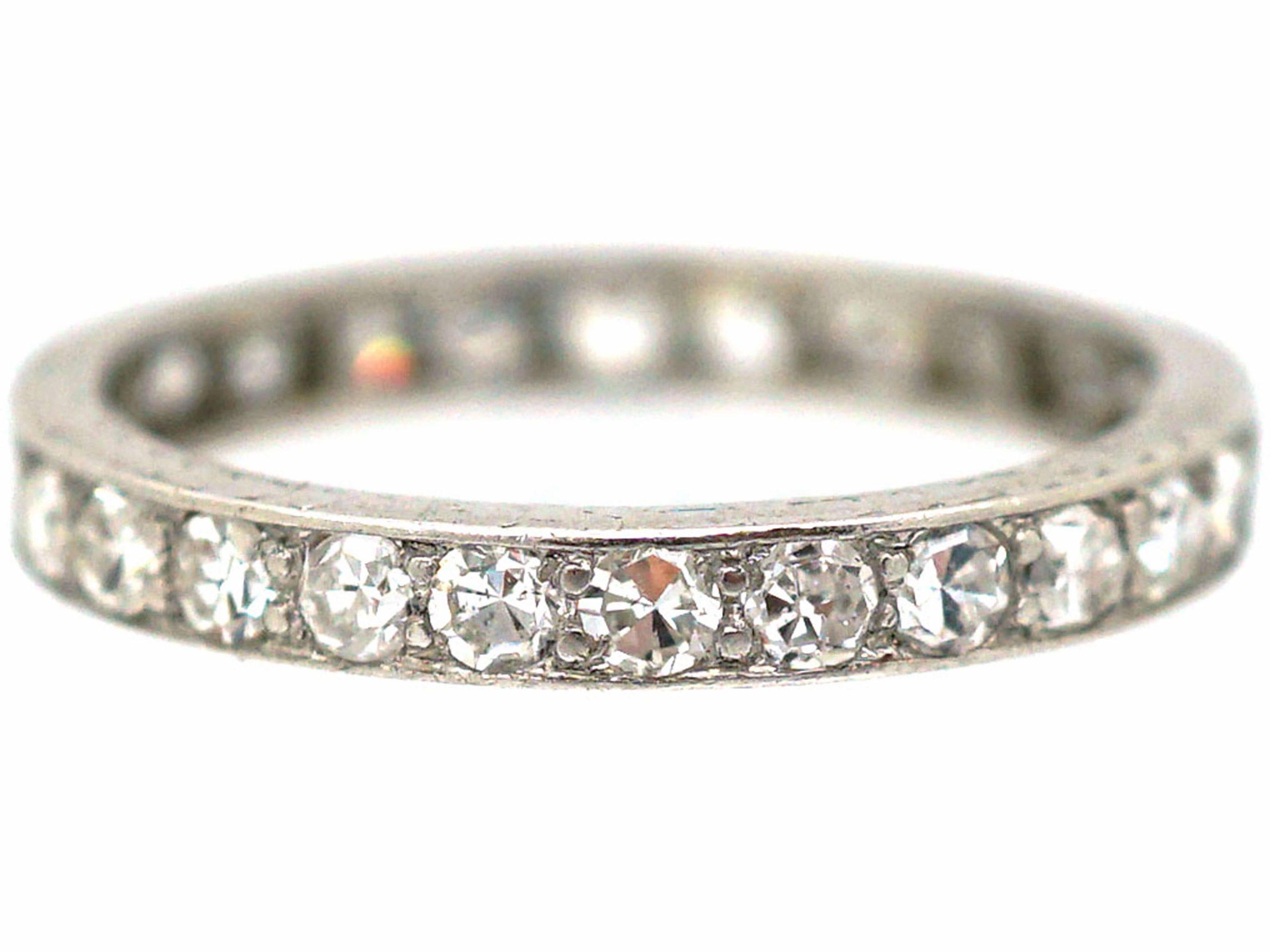 Art Deco 18ct White Gold Diamond Eternity Ring