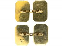 Art Deco 9ct Gold Zig Zag Design Cufflinks