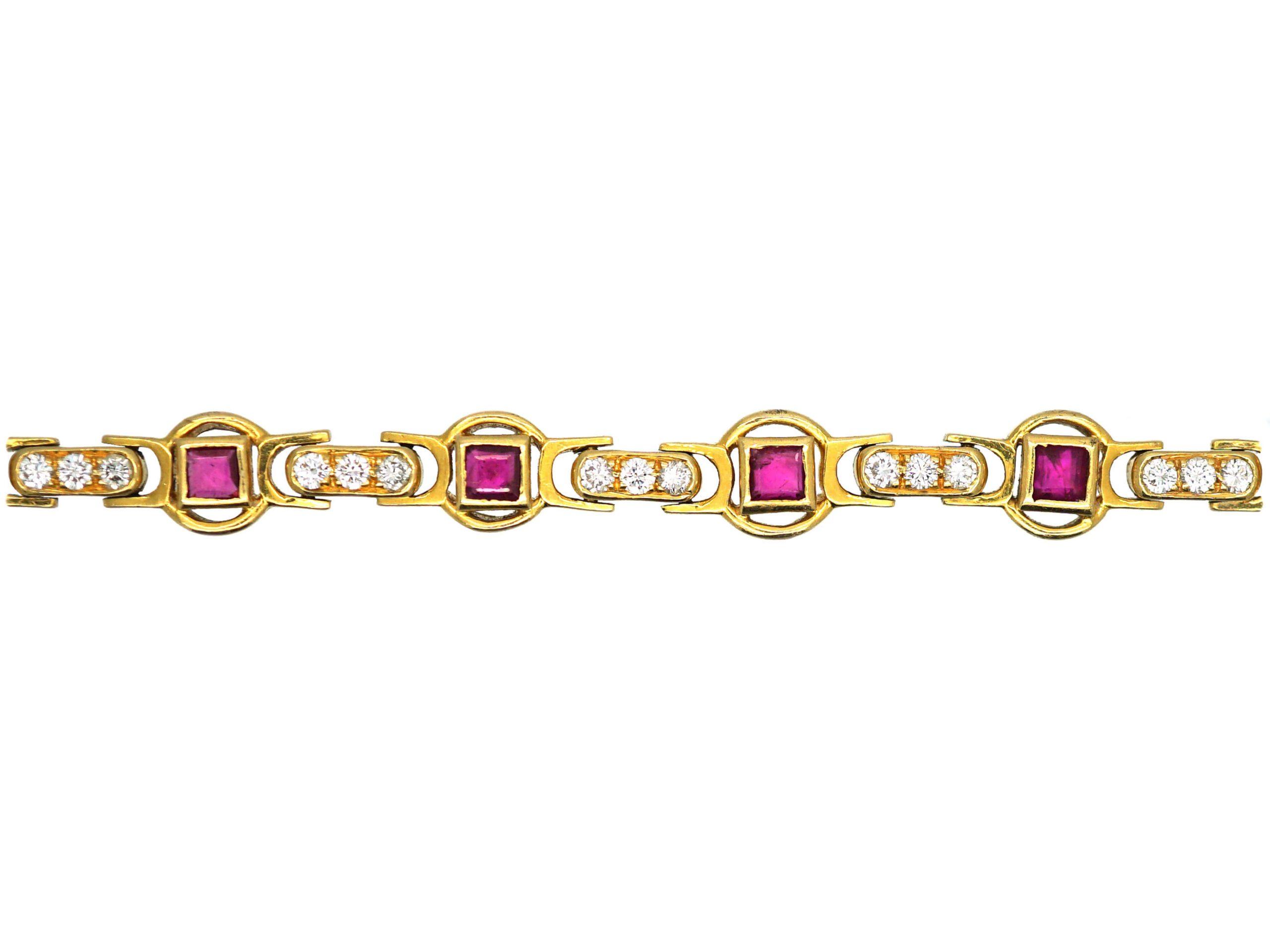 18ct Ruby & Diamond Bracelet