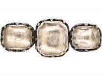 Victorian Silver & Rock Crystal Brooch