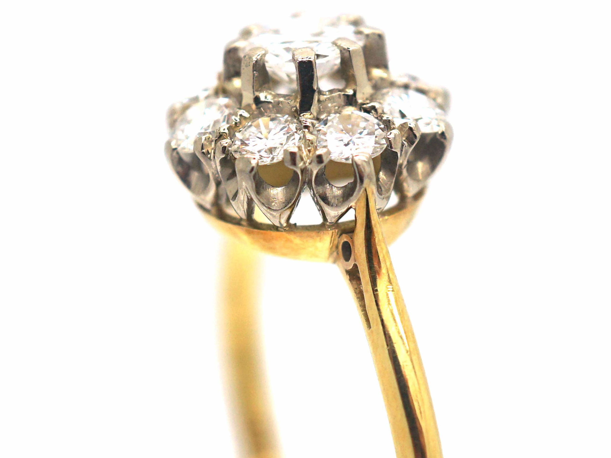 18ct Gold, Diamond Cluster Ring