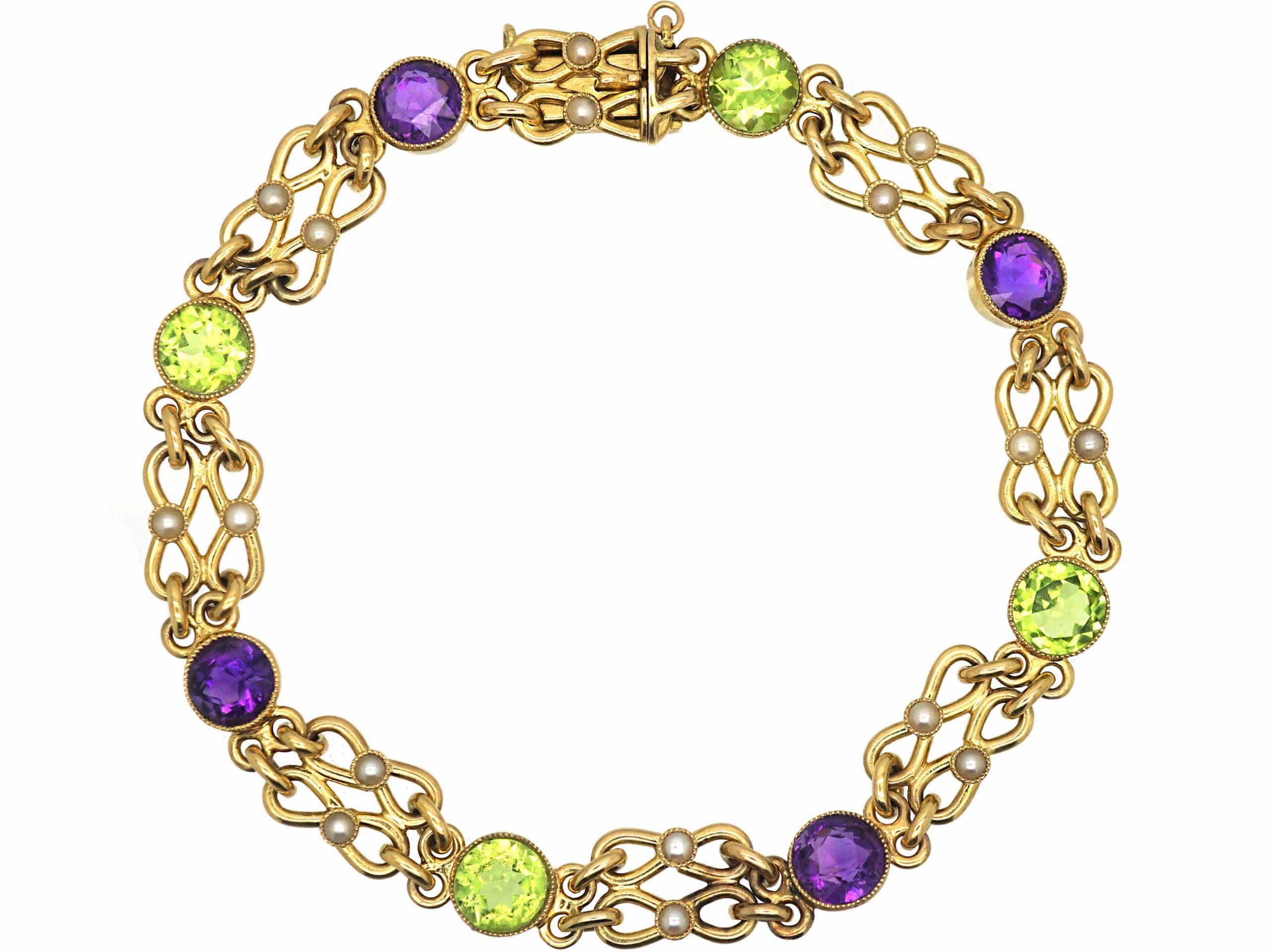 Edwardian 15ct Gold Suffragette Bracelet