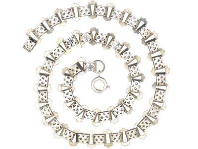 Victorian Silver Ornate Collar