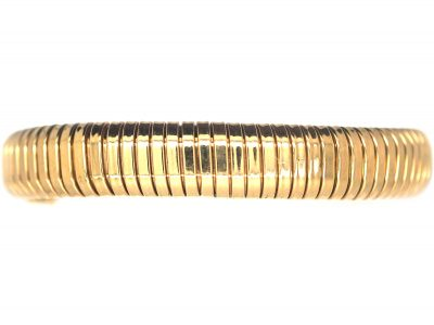 Retro Gas Pipe Flexible Tubogas 9ct Gold Bracelet