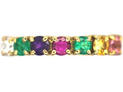 1970s 18ct Gold Ring set with Gemstones that Spell Dearest