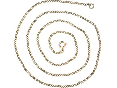 9ct Gold Trace Link Chain