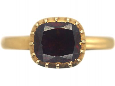 Victorian 18ct Gold & Garnet Ring