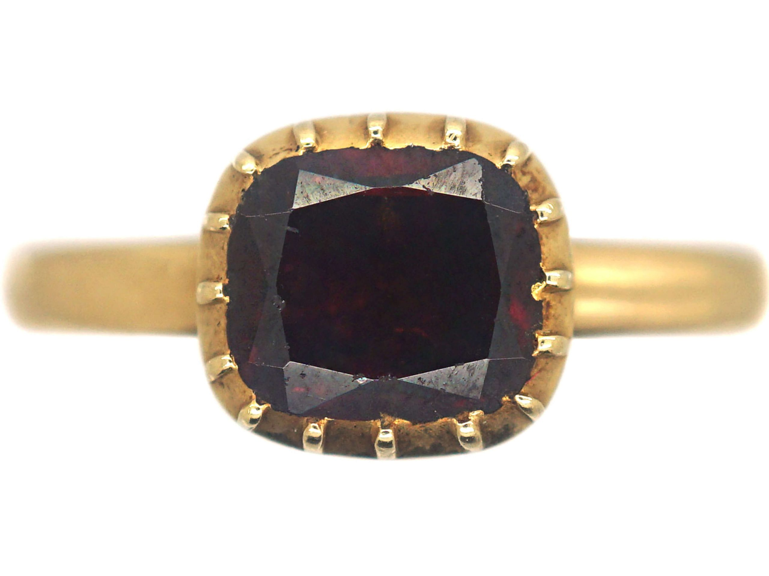Victorian 18ct Gold & Garnet Ring