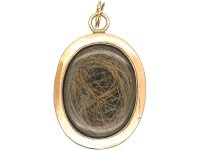 Victorian 15ct Gold Oval Locket with Turquoise Blue Enamel & Natural Split Pearls