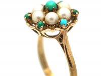 1960s 9ct Gold Pearl & Turquoise,