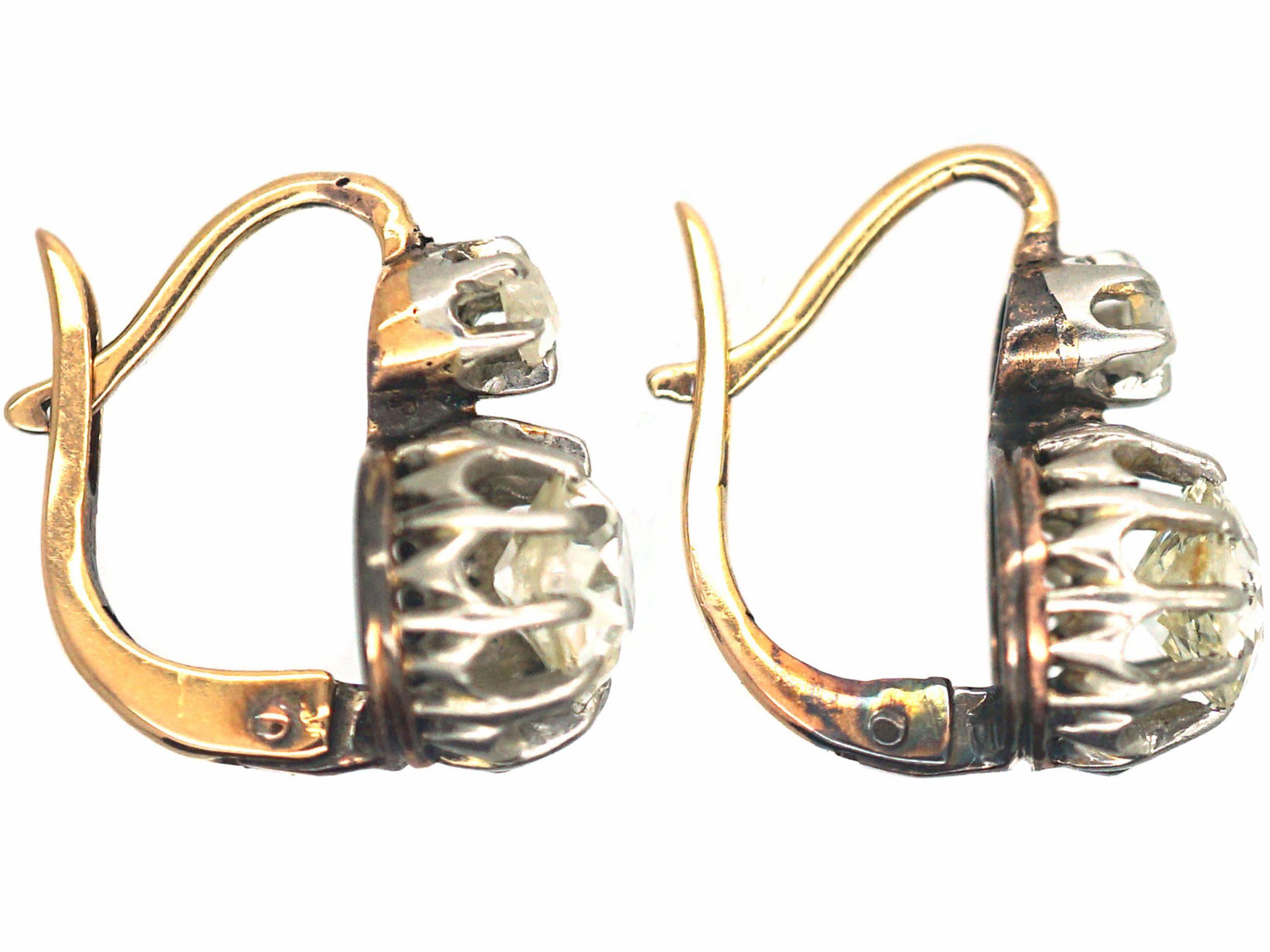 French Dormeuse Diamond Earrings