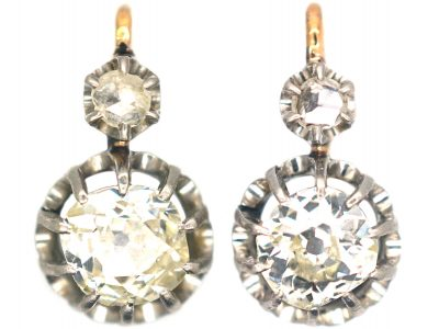 French Dormeuse Diamond Earrings