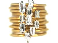 Slim 18ct Gold & Baguette Diamond Ring