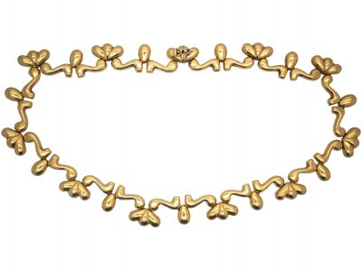 European 18ct Gold Statement Collar Necklace