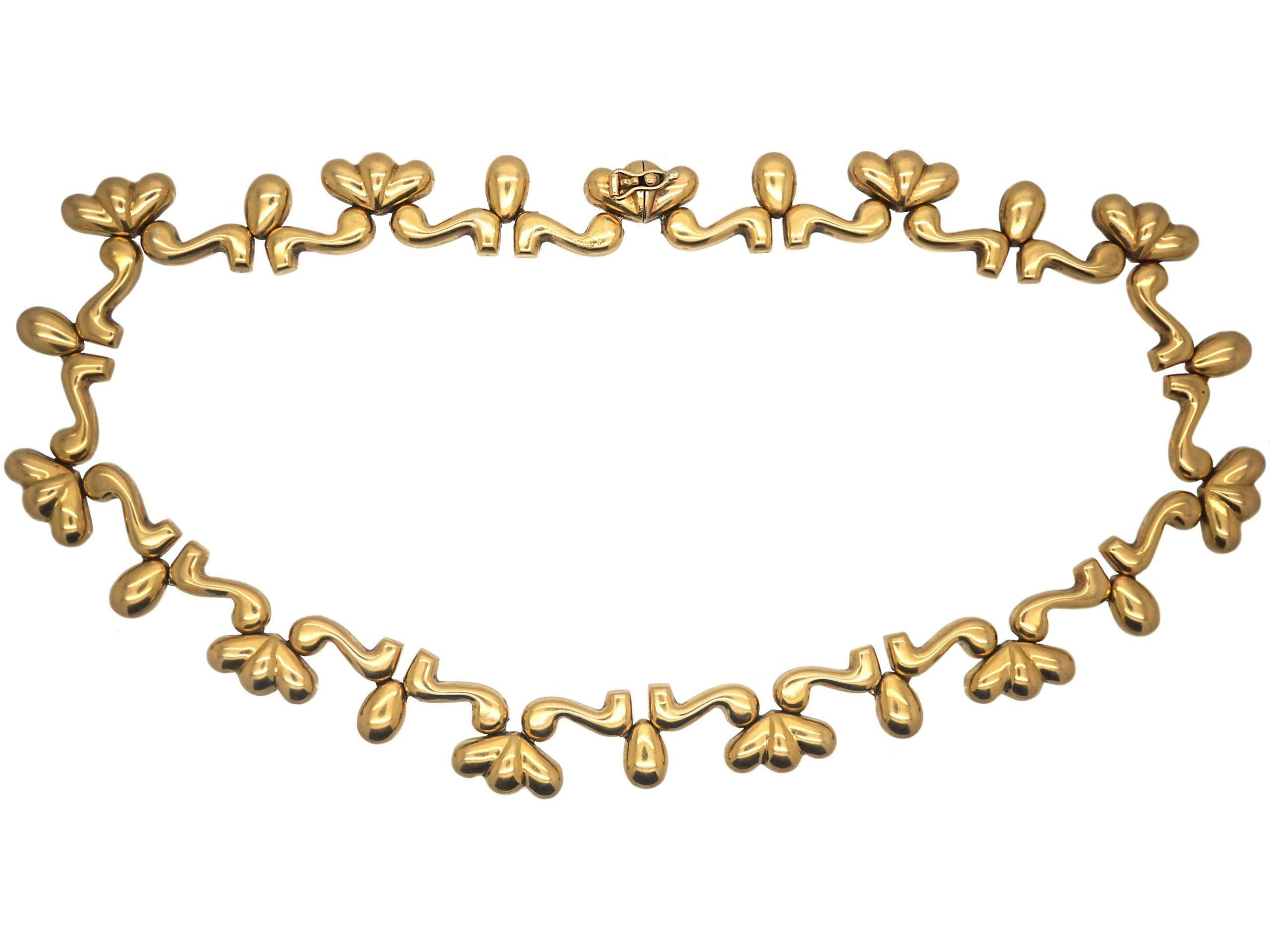 European 18ct Gold Statement Collar Necklace