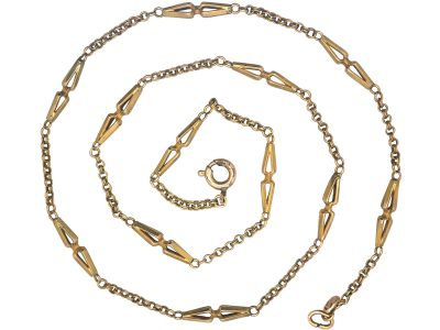 Victorian 15ct Gold Lantern Design Chain