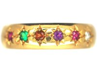 Edwardian 22ct Gold Acrostic Ring set with Gemstones that Spell Regard