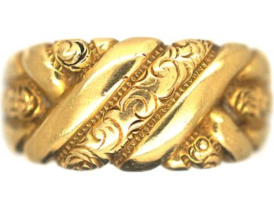 Edwardian 18ct Gold Keeper Ring