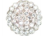 18ct White Gold Large Diamond Cluster Ring