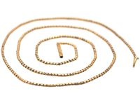 Victorian 15ct Gold Snake Chain with Barrel Clasp