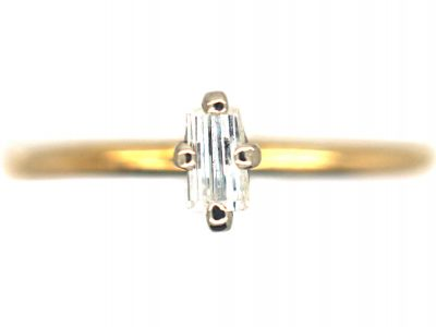 18ct Gold & Diamond Baguette Ring