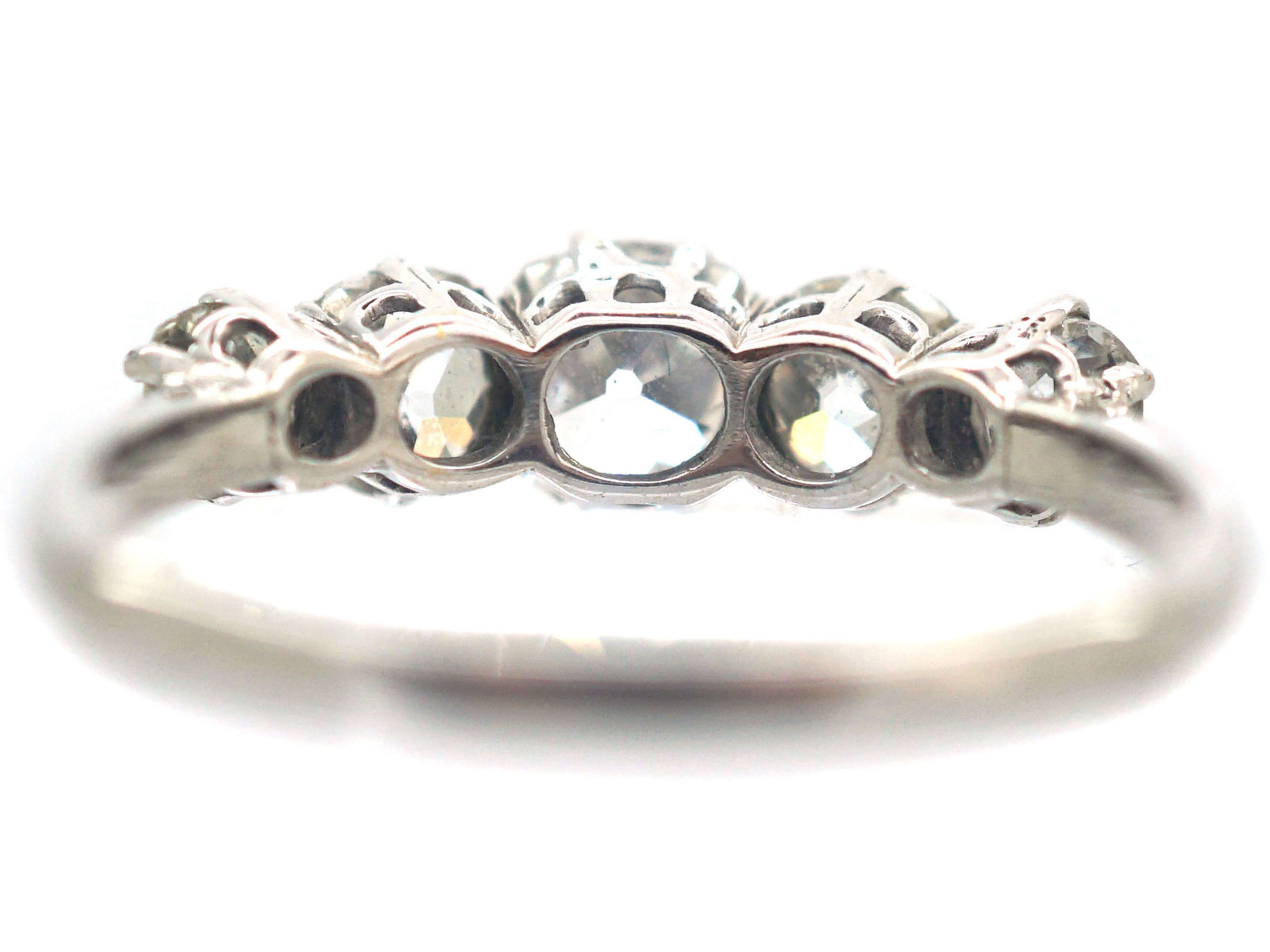 Art Deco 18ct White Gold Five Stone Diamond Ring